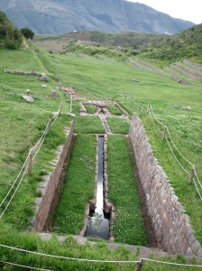Inca drainage system/fountain, pretty and functional