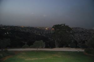 Night view over Jerusalem